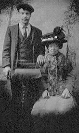 Edward W Poole (b.1870) and his wife.